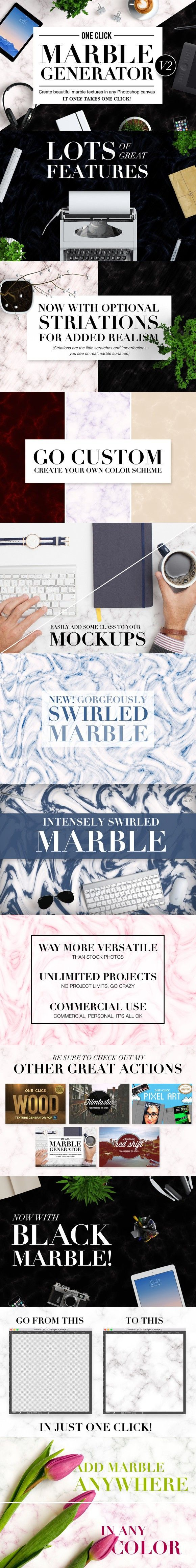 OneClick Marble Texture Generator V2. Actions. $15.00