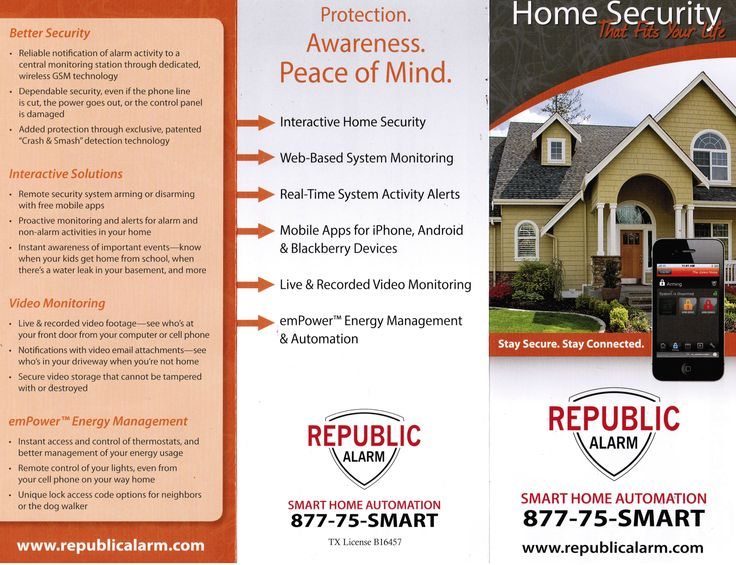 Republic Alarm Flyer. Extreme Low Voltage. Call today for pricing. or visit www.extremelowvoltage.net for more services.