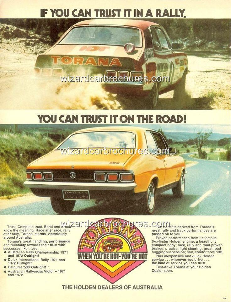 1973 LJ HOLDEN TORANA GTR XU1 HDT PETER BROCK RALLY A3 POSTER AD BROCHURE