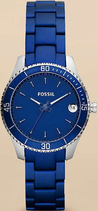 #Fossil #Watch , Fossil Stella Mini Aluminum and Stainless Steel Watch Blue ES3043
