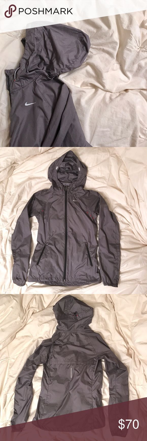 Nike Jacket Waterproof Nike Women's Running Jacket. Never worn, new condition. Thought I'd try taking up running... went for yoga instead  so this cute jacket never got used. Let me know if you have any questions :) bundle to save! Nike Jackets & Coats