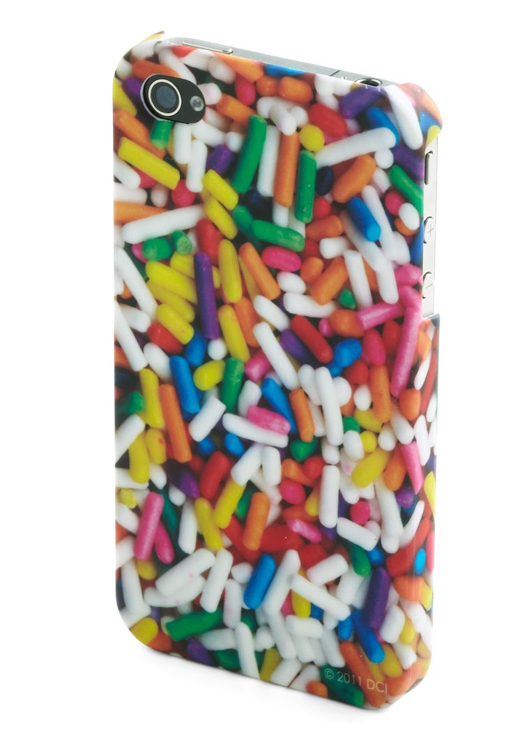 """This may very well motivate me to finally give up my """"vintage"""" first edition iPhone.    Rating Royalty iPhone Case in Sprinkles 