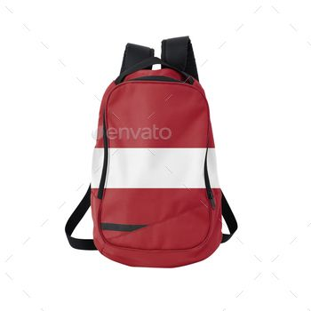 Backpack with flag of Latvia