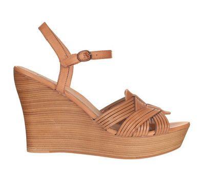 Sandales compensées cuir camel Allvey Ugg Australia prix promo Sandales Monshowroom 140.00 €
