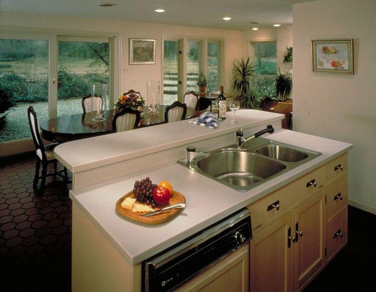 Kitchen island ideas split level house items great for Split level kitchen ideas