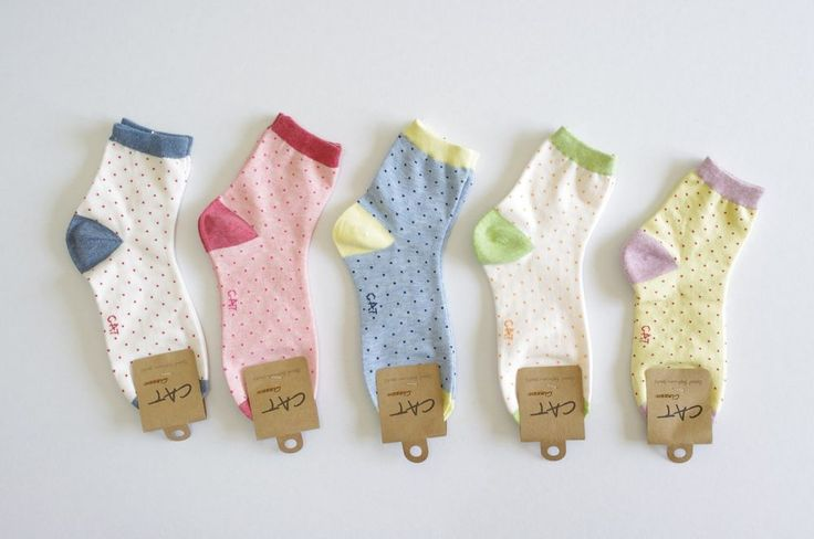 Korean Casual DOT BRIGHT 5Pairs(5Colors) Socks for Women, Made in Korea, TS017 #CherryPink #Casual