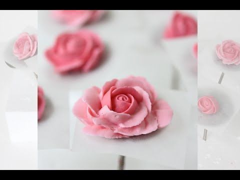 How to Pipe Royal Icing Roses (with Four Coloring Methods) - YouTube