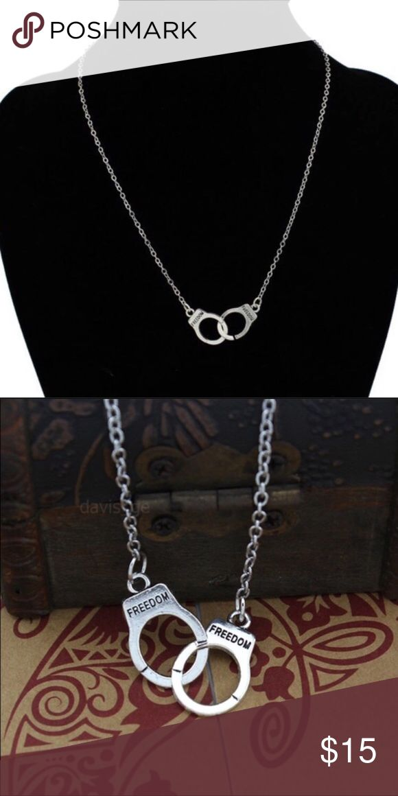 Handcuff necklace Antique silver plated Jewelry Necklaces