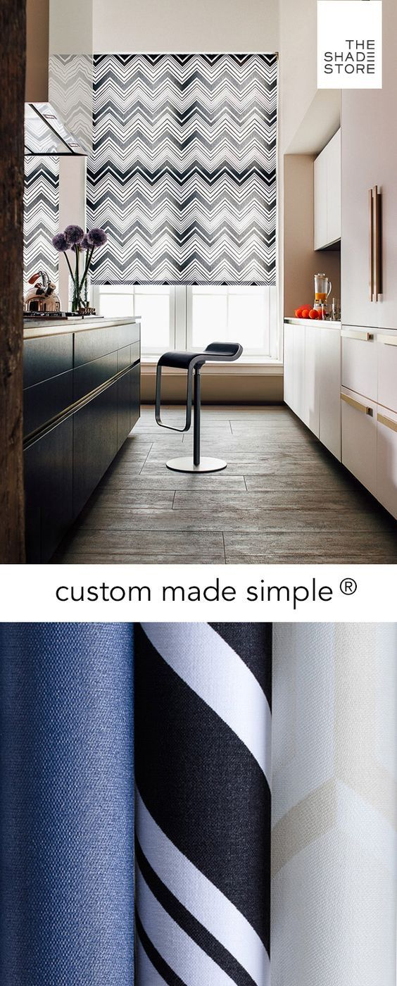 Custom Made Simple - Roller Shade - Chevron