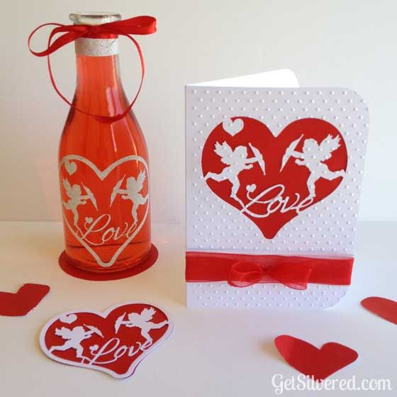 Valentine File SVG & Silhouette Cutting File with Cupids and Hearts