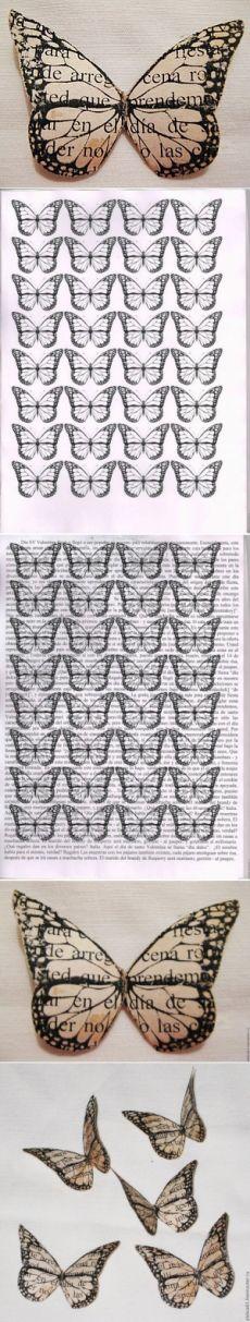 Необычные бабочки из бумаги,вырезать бабочку,МК бабочка из бумаги,бабочка принт