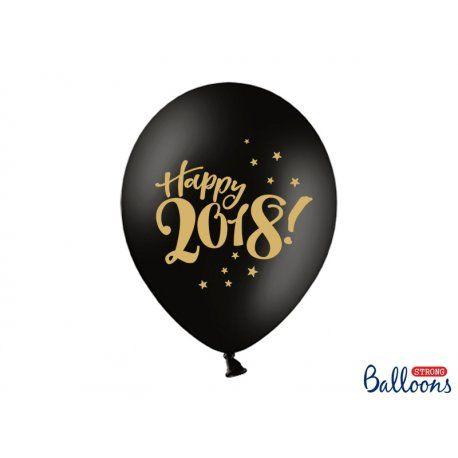 """Witajcie w poniedziałek:)   Nowy rok już niedługo:) Są już u nas:)  Balony 2018 - Happy New Year, wielkość: 30 cm (czyli 12 cali)  w kolorze pastelowym czarnym. Nadruk na balonie jest dwustronny.   Napis na balonie """"Happy 2018"""" w kolorze złotym.  Kilka opcji do wyboru:  - sam balon - balon + hel - balon + hel + żel  Uwaga: balonów wypełnionych helem nie wysyłamy na odległość.  #balony2018 #balon2018 #happynewyear #niczchin #kraków"""