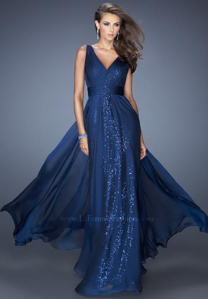 La Femme Homecoming Dresses 19631 at Peaches Boutique $398  Navy or Gold