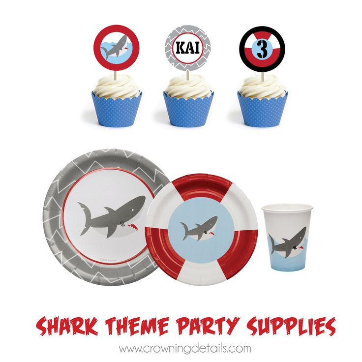 Shark party supplies for a FIN-tastic party. Shop our entire collection of shark party supplies in our online store.