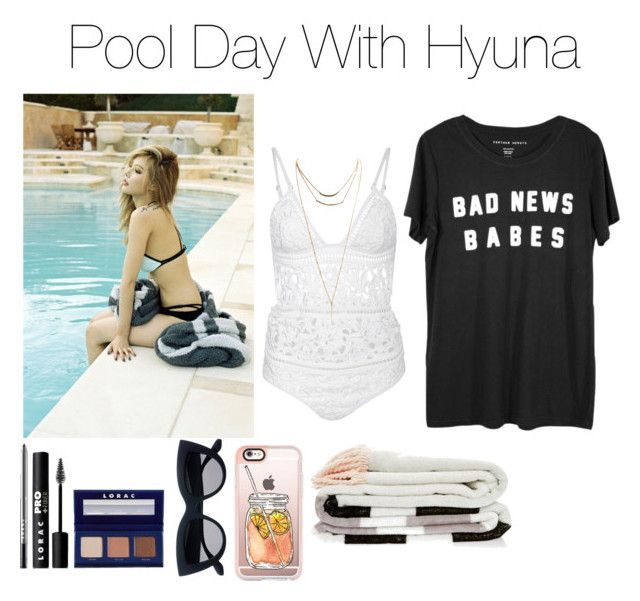 《Pool Day with Hyuna》 by mh-loves1d on Polyvore featuring moda, Zimmermann, Wet Seal, Casetify and LORAC