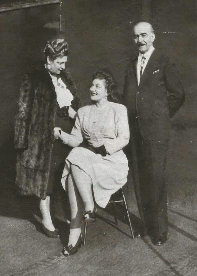 Maria Callas with her parents... Maria Callas, Commendatore OMRI, was an American-born Greek soprano and one of the most renowned and influential opera singers of the 20th century. Critics praised her bel canto technique, wide-ranging voice and dramatic interpretations.