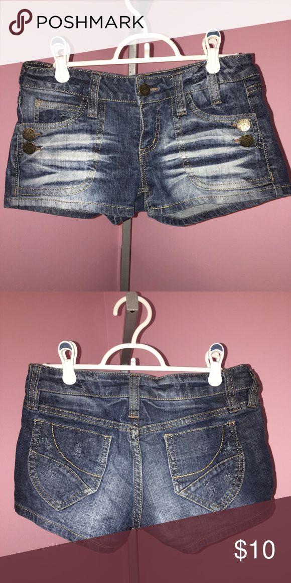 WF by Wallflower Jean Shorts WF by Wallflower distressed jean shorts size 7 in Excellent Condition Wallflower Shorts Jean Shorts