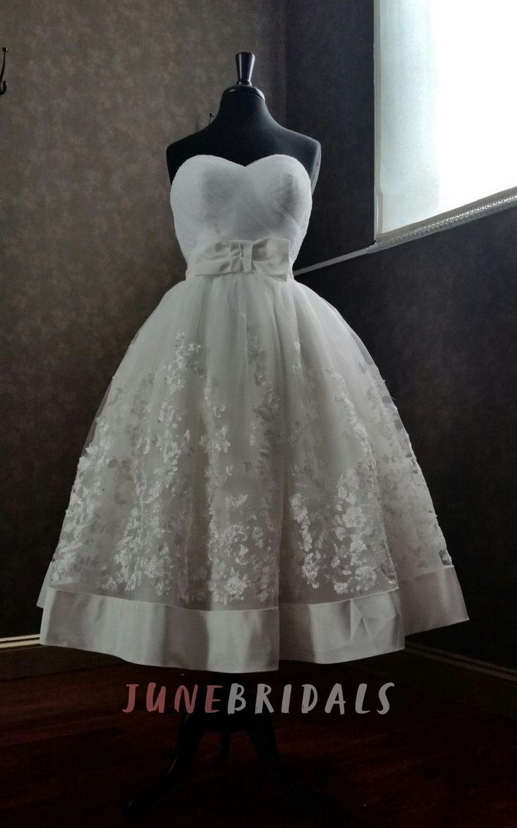 Cute short wedding dresses   best Tea Length Wedding Dress images on Pinterest  Prom dress