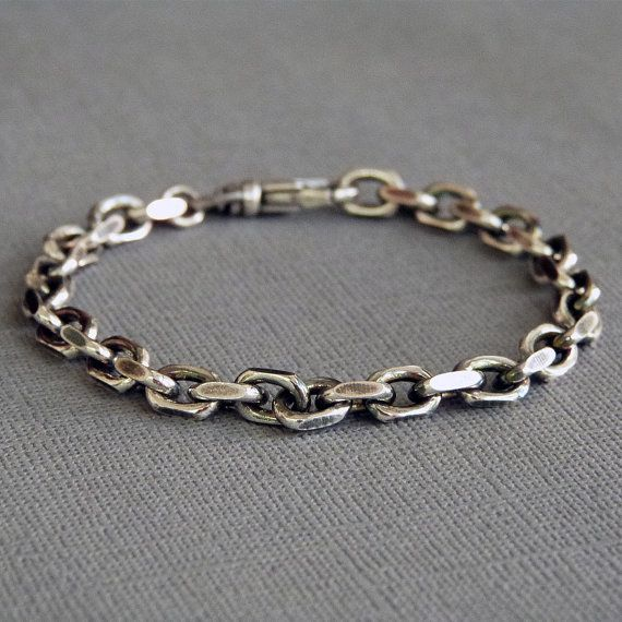 id like this in a necklace Heavy Sterling Silver Cable Chain Bracelet by SivaniAccessories, $159.00