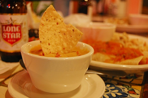 Queso + Lone Star beer + Guero's + Austin, TX = A little slice of heaven