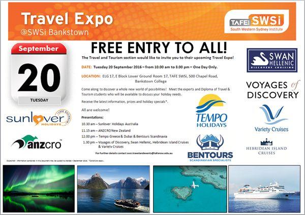 TAFE SWSi Travel Expo at Bankstown