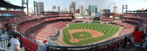 A team that's never out of the NL Pennant race, the St. Louis Cardinals have a stadium to be proud of play in Busch Stadium. Ticket prices can be a bit steep, but it's still a nice ballpark to watch a game and great views of the Gateway Arch.  http://www.stadium-advisor.com/busch-stadium-seating-chart.html