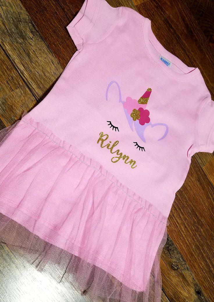 Unicorn Shirt - Girls unicorn shirt - Tutu shirt - little girls clothing - Toddler girls clothes - Unique girls clopthes - Kids Fashion by FourSierra on Etsy