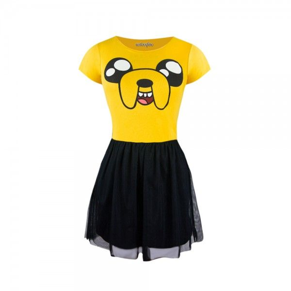 Jake Happy Face Fit & Flare Tulle Dress (Adventure Time)
