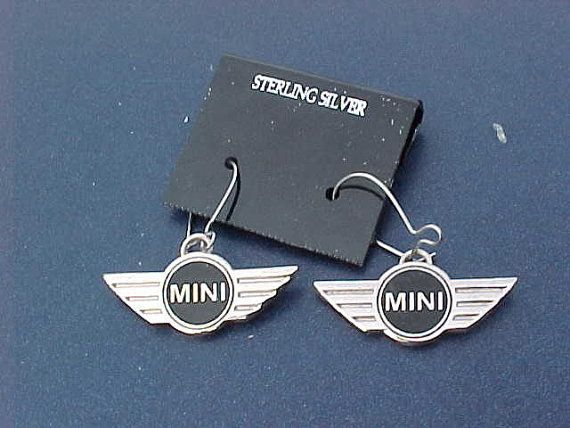 Mini Cooper Wings Sterling Silver Hoop Earrings Handcrafted in USA Unique Classic Car Accessory on Etsy, $14.99