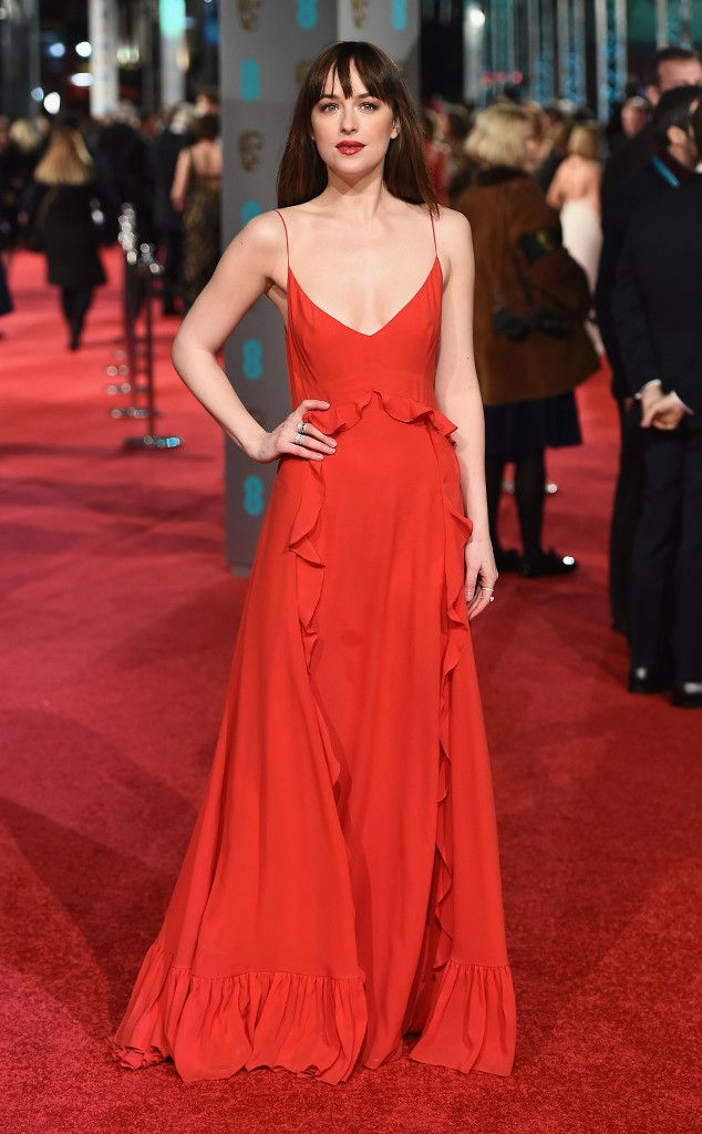 Dakota Johnson from 2016 BAFTA Film Awards: Celebrity Arrivals  TheFifty Shades of Gray actress is fifty shades of gorgeous.