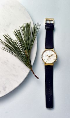 Enter #SkagenWishlistContest for a chance to win! Ends December 23rd, 2014. Featured here: Ancher Men's Leather Chronograph Watch [Promotional Pin]
