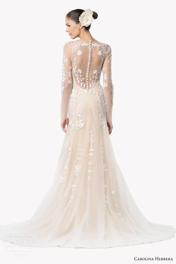 CAROLINA HERRERA #Bridal Fall 2015 #Wedding Dresses: Delfina gown #weddings #weddingDress #weddingGown http://www.weddinginspirasi.com/2014/12/23/carolina-herrera-bridal-fall-2015-wedding-dresses/