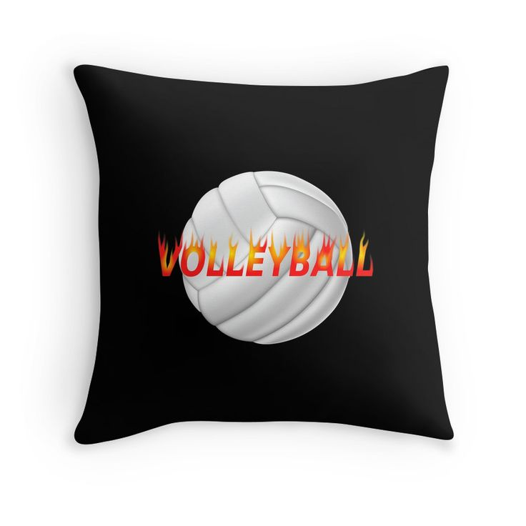If you love Volleyball, then you will love this Volleyball with fire style text on a throw pillow.