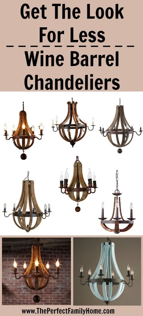 Less expensive alternatives compared to the pricey and gorgeous Wine Barrel Chandelier from Restoration Hardware