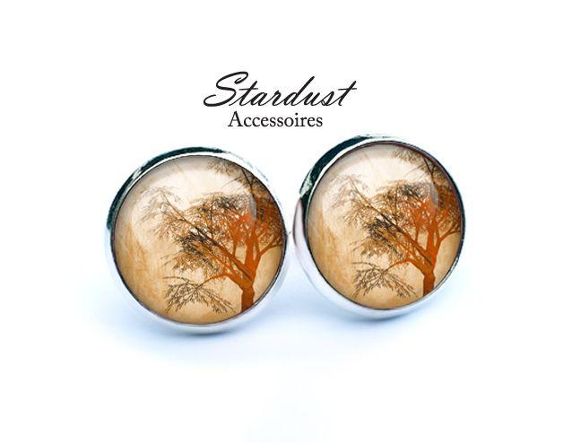 Ohrstecker silber ✿ Herbstbaum ✿ von Stardust Accessoires auf DaWanda.com