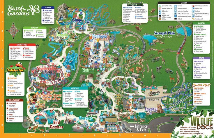 Park Map Busch Gardens Tampa Bay Busch Gardens Tampa