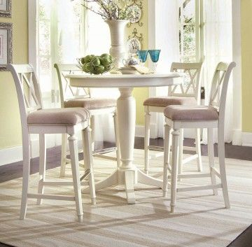 American Drew Camden 5 Pc Bar Height Round Dining Set In