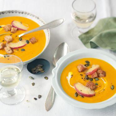 Kürbis-Apfel-Suppe Rezept | Küchengötter
