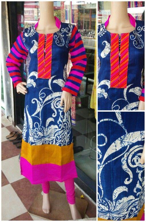 Jute silk kurty Size: L XL XXL Price:1095 Watsapp 9879362999