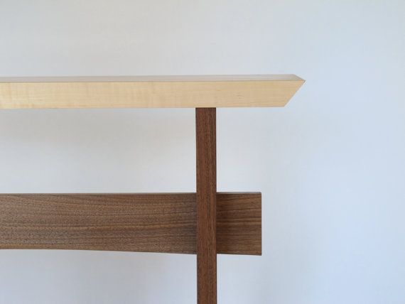 Handmade Narrow Zen Console Table  Minimalist Wood Furniture, Narrow Side  Table, Zen Accent Table, Modern Wood Console
