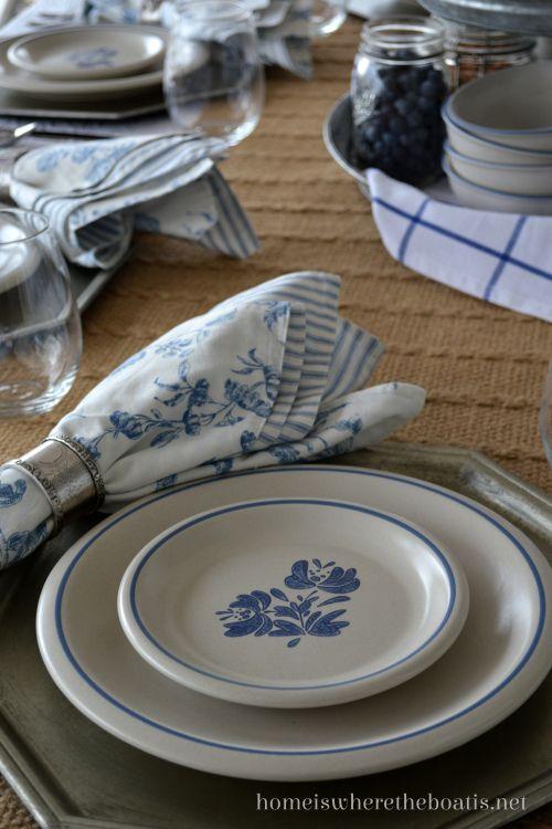 Pfaltzgraff Yorktowne Blue and White Dinnerware