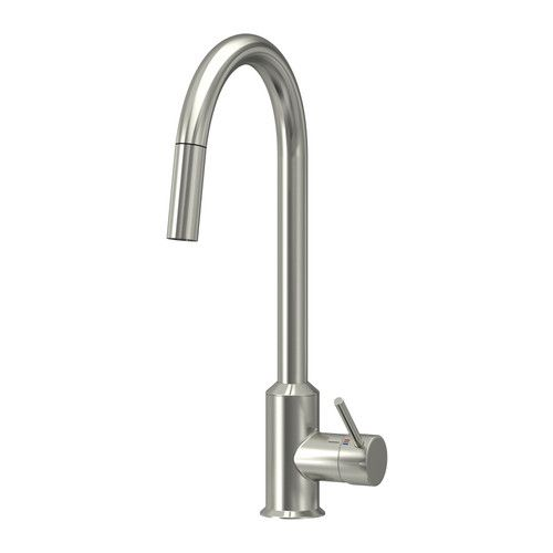 IKEA - RINGSKÄR, Kitchen mixer tap w pull-out spout, 10 year guarantee. Read about the terms in the guarantee brochure.You save water and energy, because the mixer tap has a mechanism that reduces water flow while maintaining pressure.The mixer tap insert has hard, durable ceramic discs that can handle the high friction that occurs when you change the temperature of the water.Rinsing dishes is easier with the pull-out spout.A counterweight makes the hose easily retract back into the kitchen…