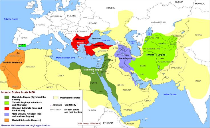 The complete history of Islamic states This time-lapse map by Michael Izady — a wonderful historian and cartographer at Columbia University,...