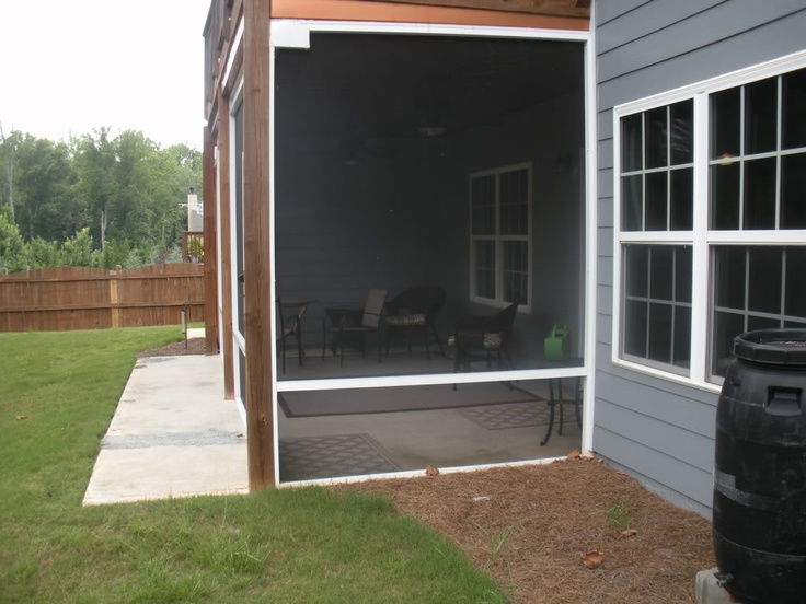 Simple Screened Porch Over Concrete Slab Small Homes