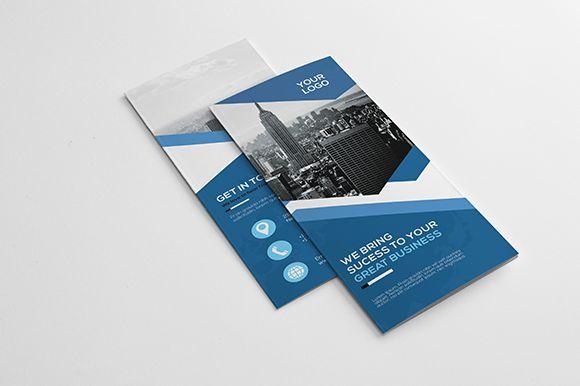 Corporate Tri-fold Brochure by GreenPixi on @creativemarket