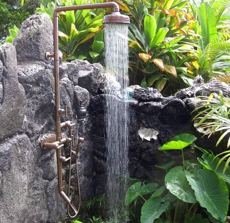 109 best outdoor stone showers and tubs images on Pinterest