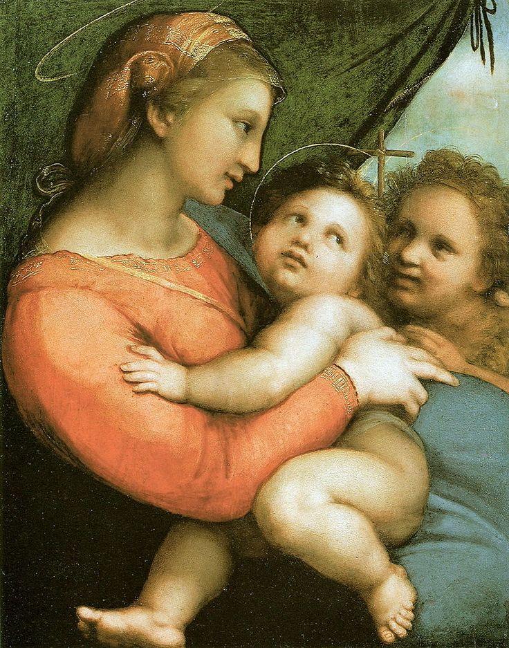 Raphaël - Raffaello - Rafael - Renaissance - Madonna della Tenda - La Vierge au Rideau - 1514