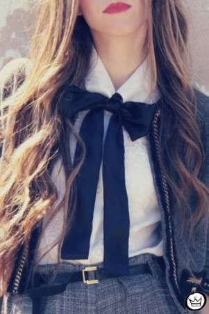 Making the school uniform look fashionable #fashion