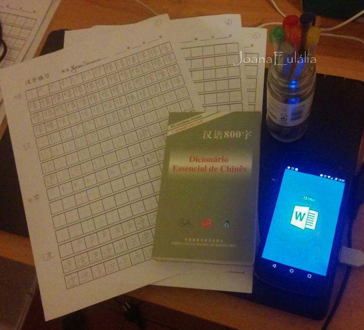 Studying Chinese.