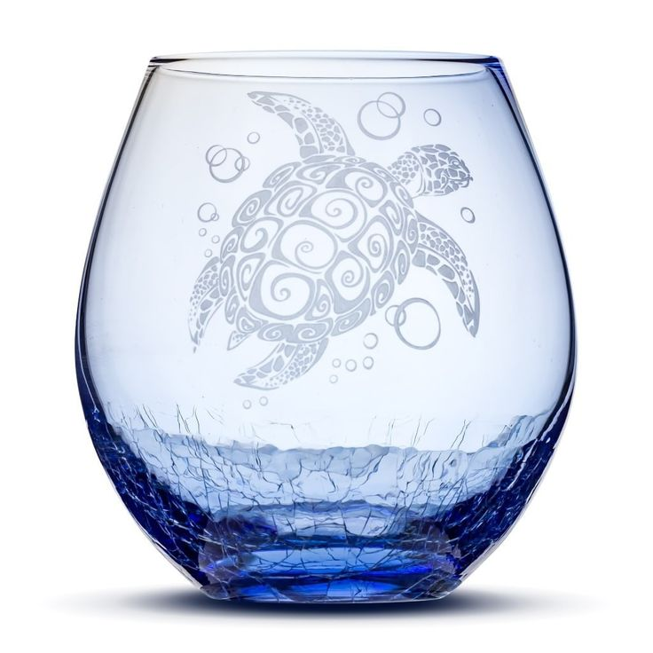 Look what we just made! Crackle Blue Wine... Order yours today: http://integritybottles.com/products/crackle-blue-wine-glass-with-tribal-sea-turtle-hand-etched?utm_campaign=social_autopilot&utm_source=pin&utm_medium=pin  #integritybottles
